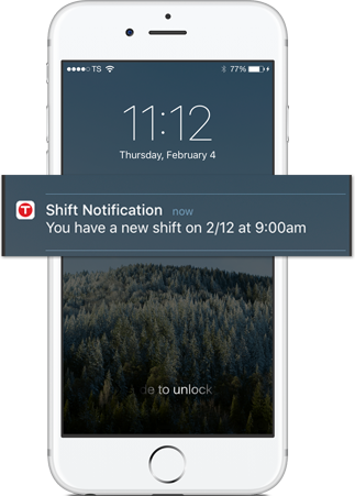 Employees are notified on their smartphone as soon as a job is assigned to them.
