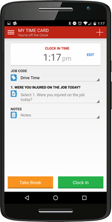 track time your way - Time Card App For Android