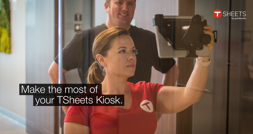 TSheets Time Clock Kiosk is like a digital punch clock — employees simply clock in, on the same device, using a unique, 4-digit PIN.