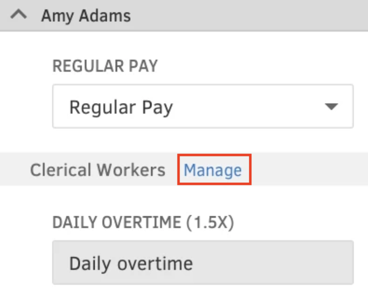 manage overtime button