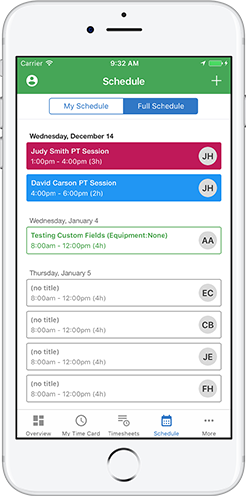 Schedule your home care workers via TSheets iPhone and Android apps.