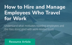 Independent survey results or employees who travel.