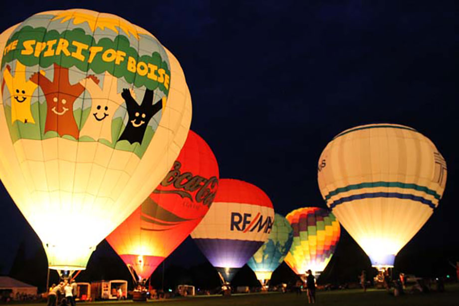 Each year Boise is filled with hot air balloons in Ann Morrison park.