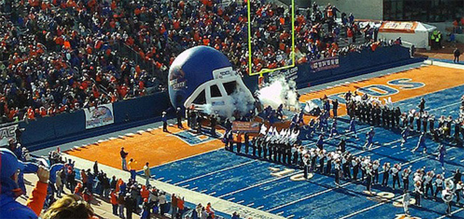 Boise bleeds blue and orange, especially when a BSU football home game happens in Bronco Stadium.