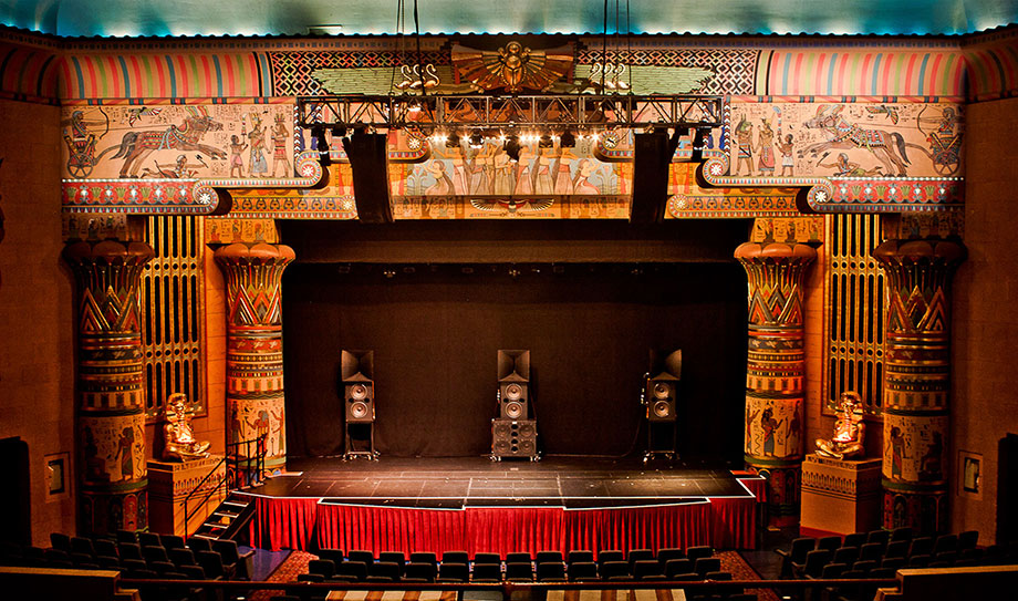 The Egyptian Theater is a beautiful art-deco style building which shows independent films and theater productions.