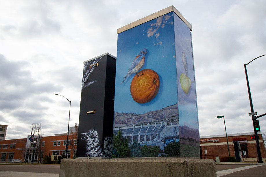 Boise works hard to develop its art scene with murals and decorated utility boxes.