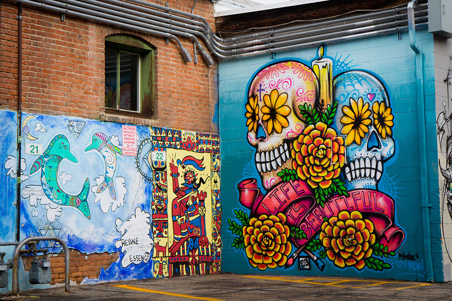 Boise's Freak Alley has some of the best murals in the Northwest.