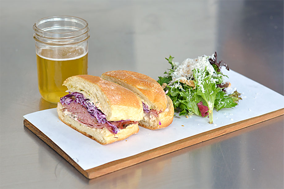 Open for lunch only and the place is packed. Bleubird Cafe specializes in fresh sandwiches and hand-crafted sodas.