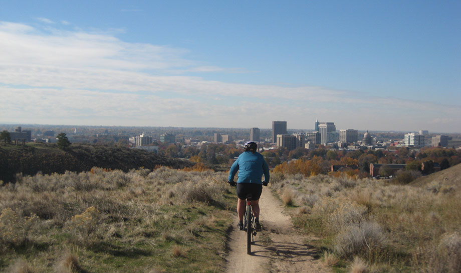 In Boise you can literally ride a bike from downtown up to the nearest ski resort - Bogus Basin.