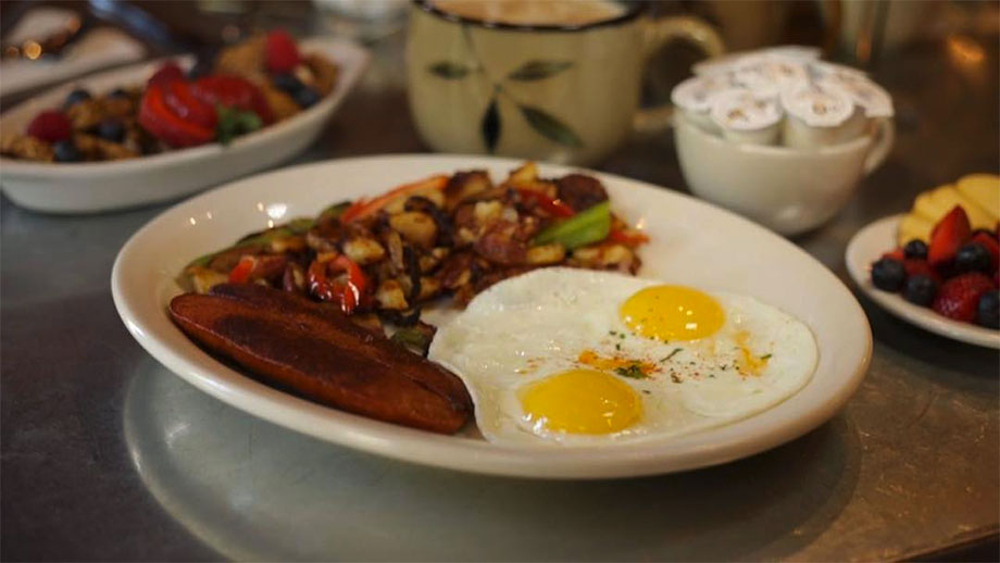 Goldy's is another can't miss breakfast destination in Boise. Special potatoes? Yep!