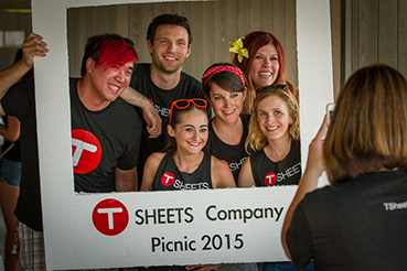 TSheets employees enjoying the first annual 2015 company picnic