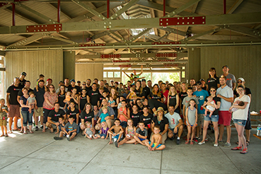 TSheets employees and their families at the 2015 company picnic