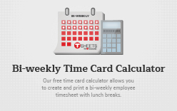 Bi-weekly Time Card Calculator - Semi-Monthly Calculator with Lunch