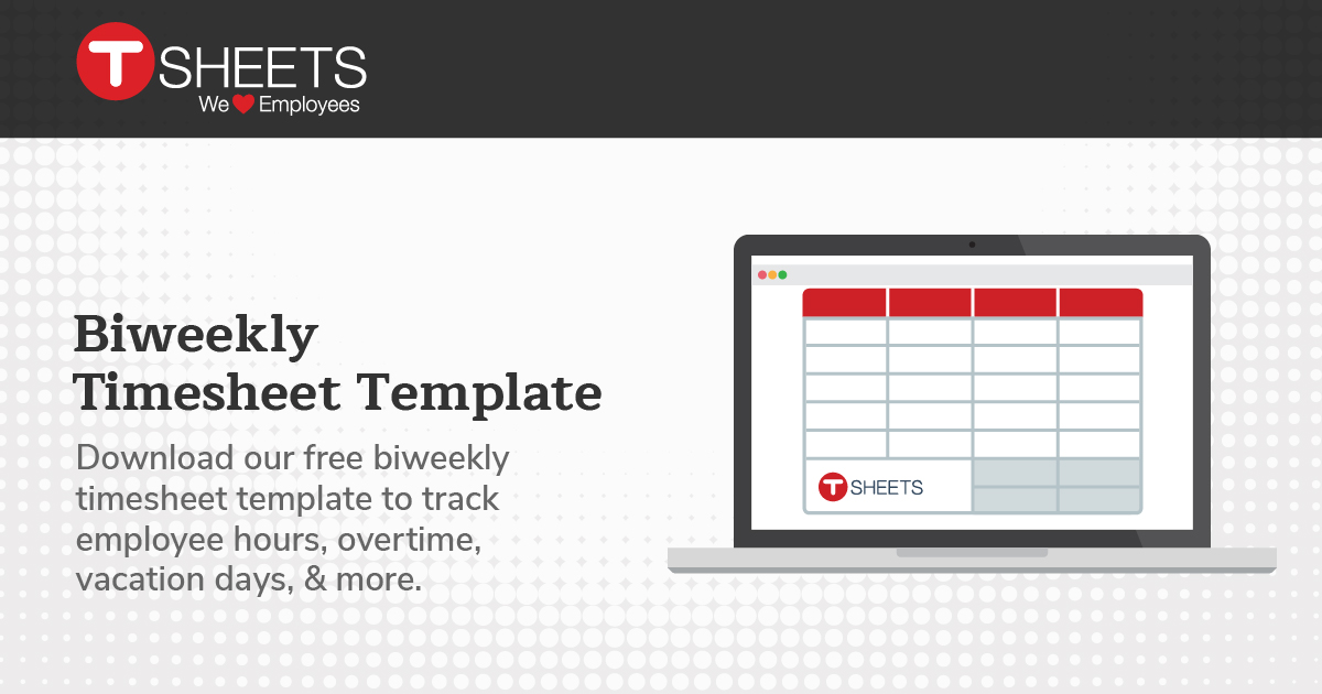 BiWeekly Timesheet Template  SemiMonthly Timesheet In Excel