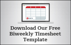 Free bi-weekly employee time cards for Excel.