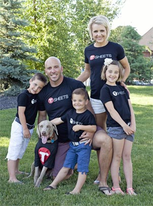 Matt Rissell is not only a great leader at TSheets but also quite the family man to his family of five & dog.