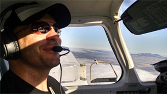 Not only does Matt run a successful company but also enjoys flying planes in his spare time.