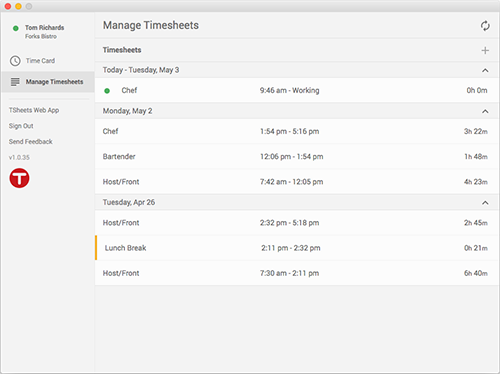 Easily categorize your hours by task, client, location, project, department, or any other 'job code' you want.