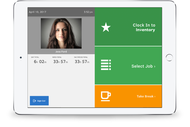 TSheets Kiosk captures photos of employees to provide an extra layer of security.