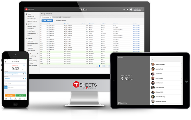 TSheets provides mobile timesheets on desktop, mobile and tablet.