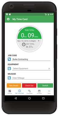 Android Time Tracker App