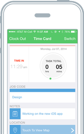 Mobile Time Tracking for iPhone