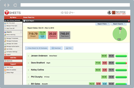 TSheets reporting makes job costing easy and efficient