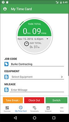 best time tracking app time clock app android tsheets