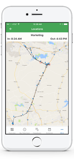 GPS stamping for employee time tracking