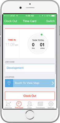 Employee Time Tracking for iPhone
