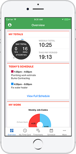 Monitor and approve your employees time and location from your mobile phone.