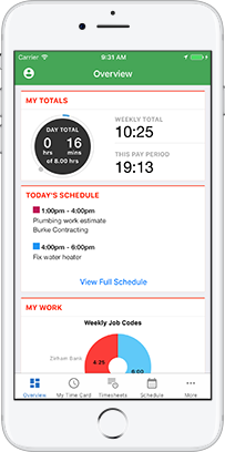TSheets mobile time tracking works anywhere. No wifi or cell service? No problem.