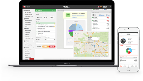 TSheets includes free GPS tracking, break reminders, and a Who's Working window.