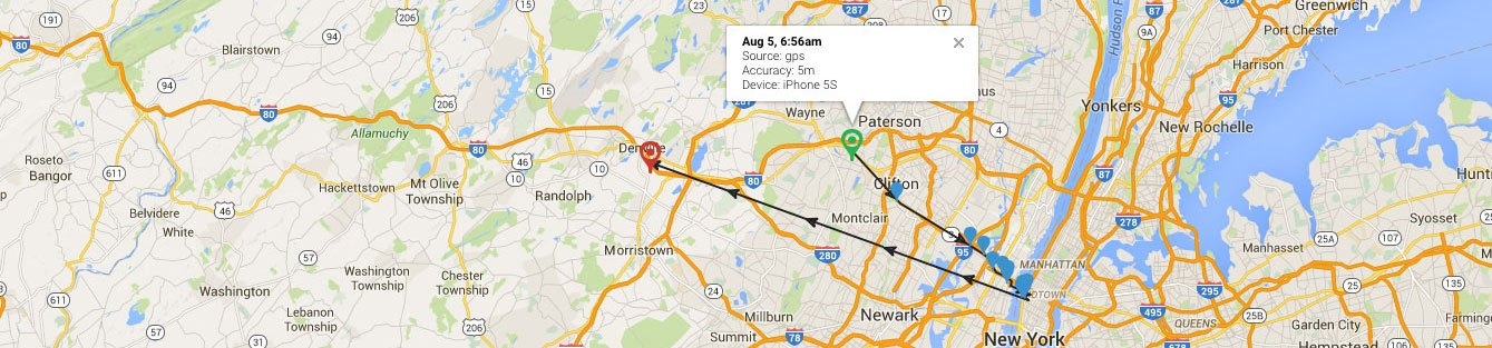 Android time tracking with GPS
