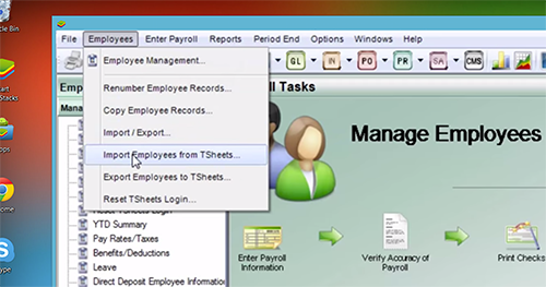 Easily import employees from TSheets to Denali for payroll