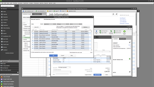 Run billable time and cost reports with QBD