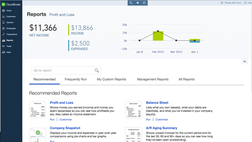 Analyze business performance with QBO reports