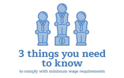 3 things you need to learn about minimum wage requirements.