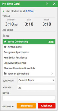 Multiple ways to track timesheets and projects online or with a mobile device.