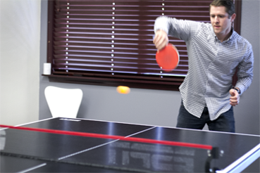 Ping pong is a great way to unwind at TSheets