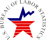 The U.S. Bureau of Labor Statistics (BLS) logo.