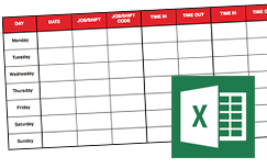 Download weekly, biweekly, and monthly Excel time tracking spreadsheets.