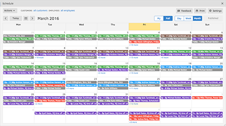 TSheets Scheduling has replaced their old schedule and paid time off calendar they used to keep in Outlook.