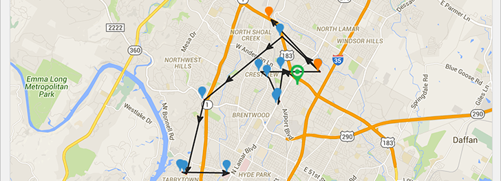 See each employee's GPS location along with what jobs they're clocked into on the schedule.