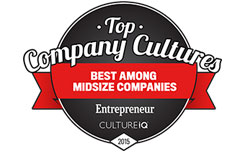 TSheets ranked #2 in Entrepreneur Magazine Top Company Cultures list