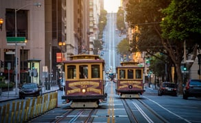 Photo of San Francisco cable cars.