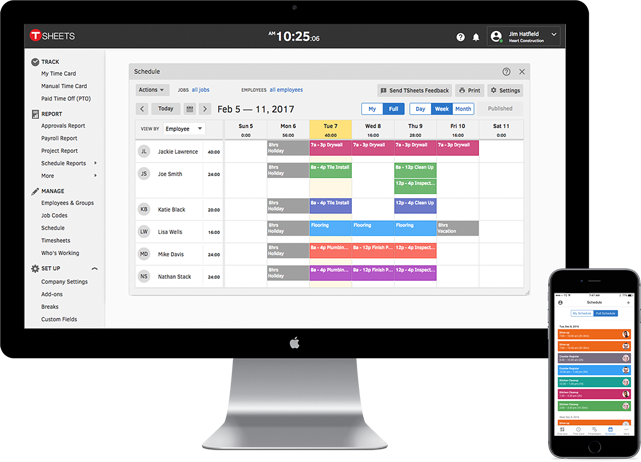 Use TSheets to schedule employees right from the same app used for time tracking.
