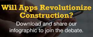 Find out how apps will revolutionize the construction industry. Download the infographic and join the debate.