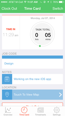 Time Tracking App for iPhone