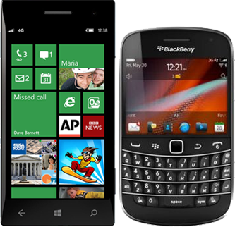 Use Windows and Blackberry phones to clock in